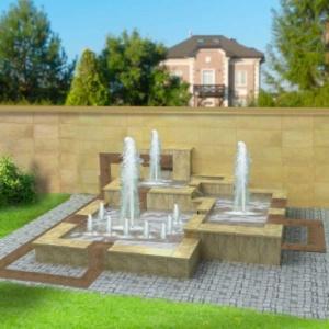 красивые фонтаны во двор